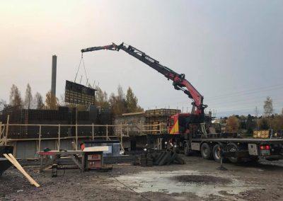 Isopellontie 6 Helsinki, kahden väestösuojan rakennus ja toteutus